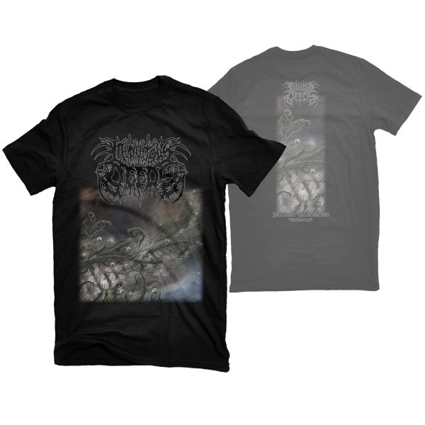 "Image of INIQUITOUS DEEDS ""INCESSANT HALLUCINATIONS"" T-SHIRT"