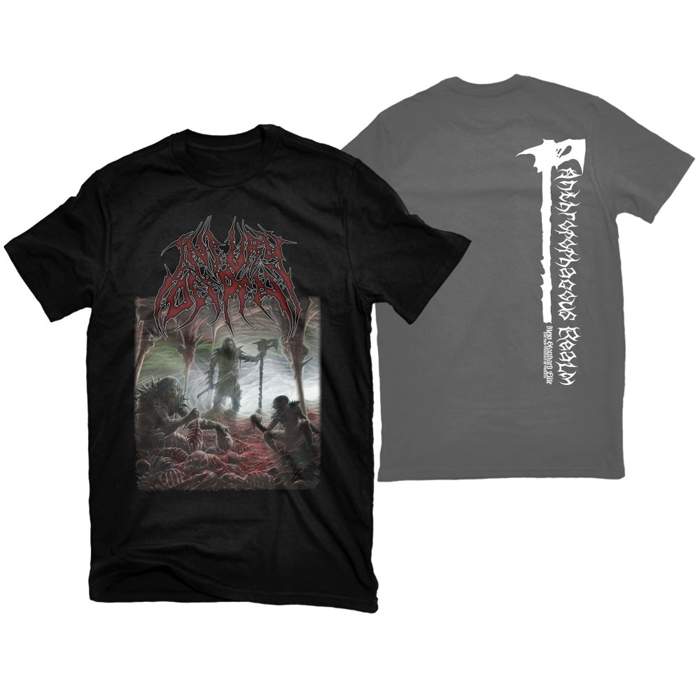"Image of INJURY DEEPEN ""ANTHROPOPHAGOUS REALM"" T-SHIRT"