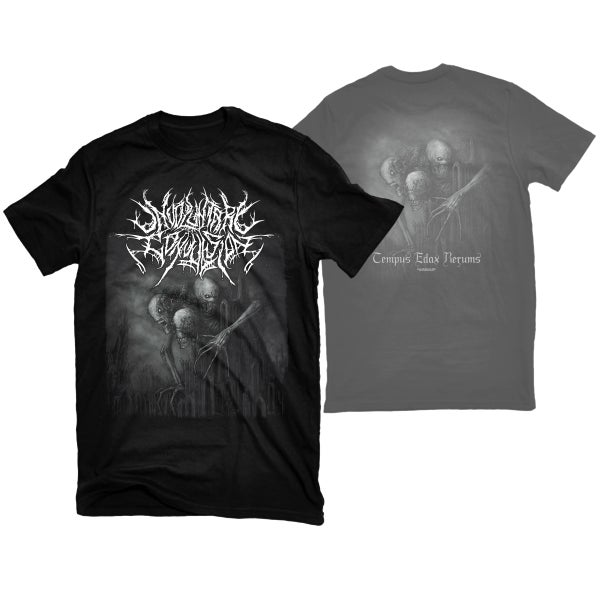 "Image of INVOLUNTARY CONVULSION ""TEMPUS EDAX RERUMS"" T-SHIRT"