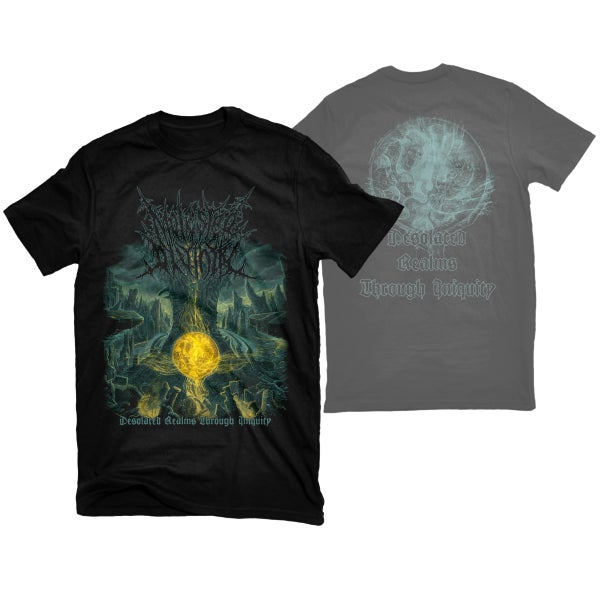 "Image of MOLESTED DIVINITY ""DESOLATE REALMS THROUGH INIQUITY"" T-SHIRT"