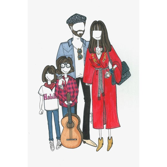 Image of Custom A4 Family Portrait