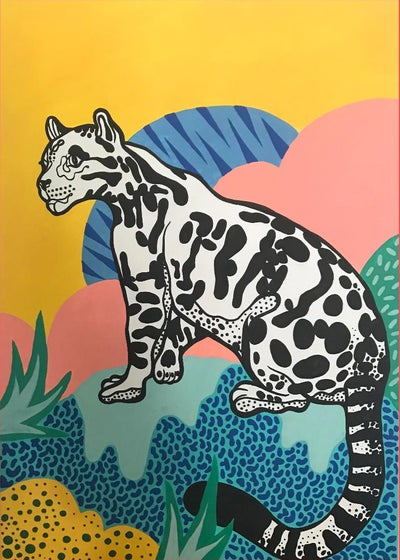 Image of Leopard Painting