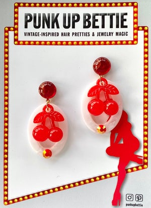 Image of Cherry Pinup Pretty Earrings - Pink