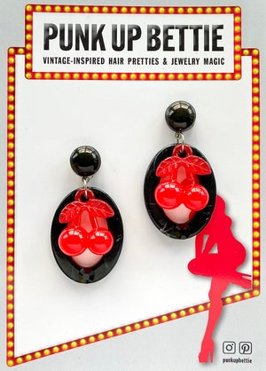 Image of Cherry Pinup Pretty Earrings - White