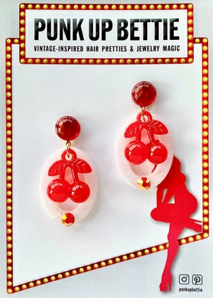 Image of Cherry Pinup Pretty Earrings - Black