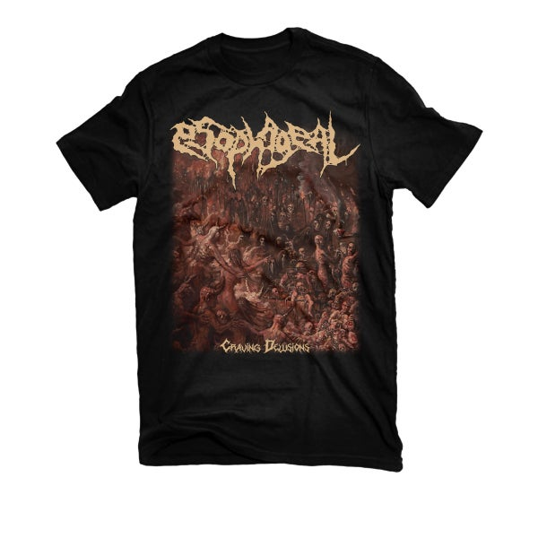 "Image of ESOPHAGEAL ""CRAVING DELUSIONS"" T-SHIRT"