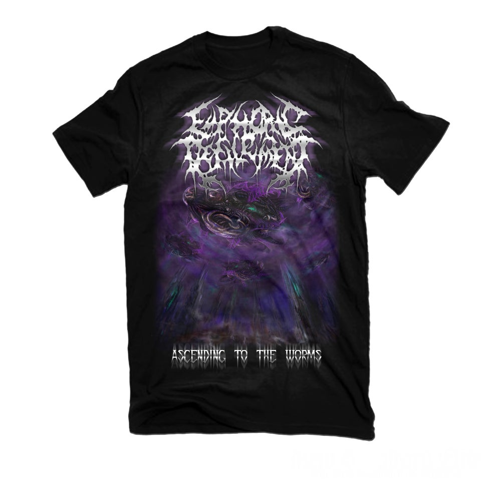 """Image of EUPHORIC DEFILEMENT """"ASCENDING TO THE WORMS"""" T-SHIRT"""