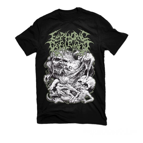 "Image of EUPHORIC DEFILEMENT ""RENDING SHADES OF DEFORMITY"" T-SHIRT"