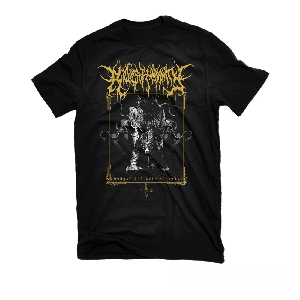 """Image of RELICS OF HUMANITY """"BURNING SOULS"""" T-SHIRT"""