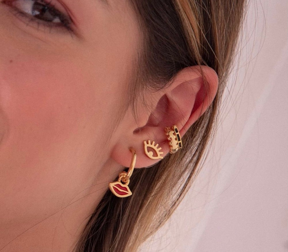 Image of Kiss Me Earrings and Ear Cuffs