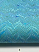 Marbled Paper Turquoise 1/2 sheets