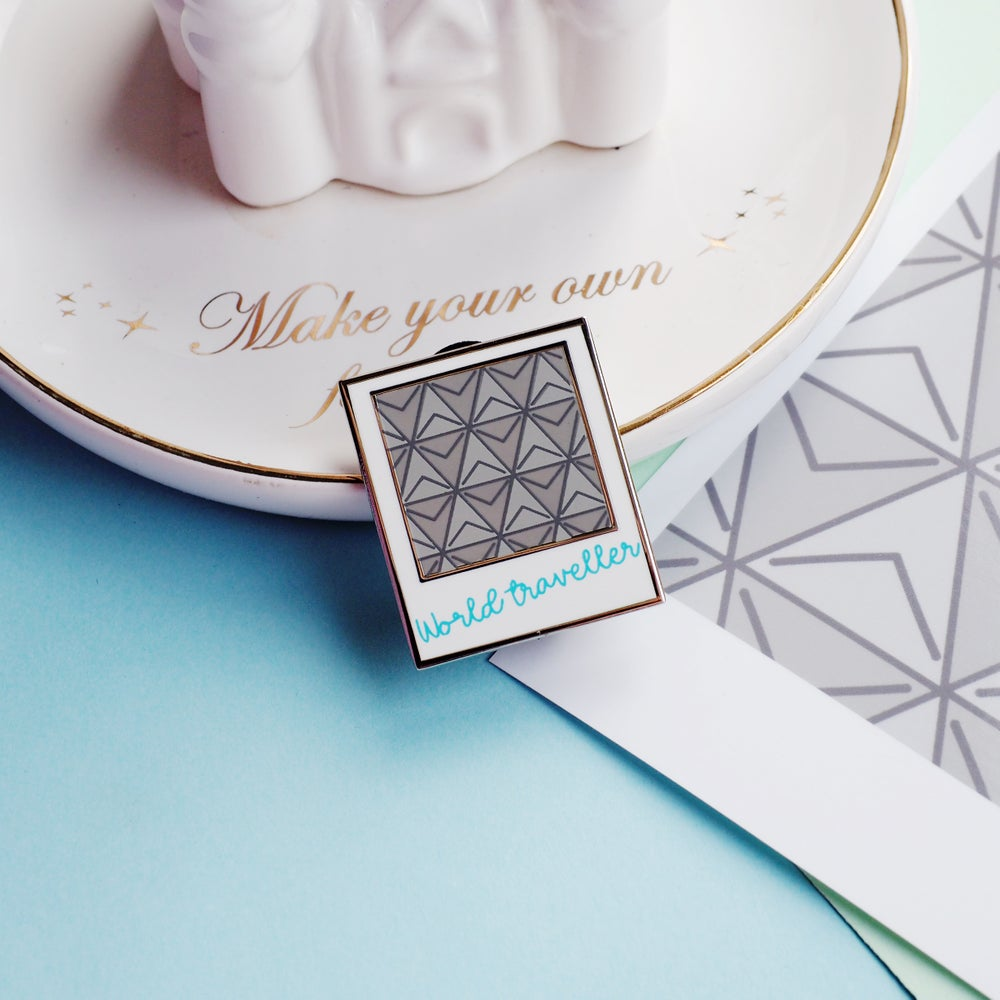 Image of World Traveller Polaroid pin