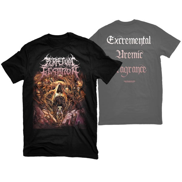 "Image of PERPETUAL GESTATION ""EXCREMENTAL UREMIC FRAGRANCE"" T-SHIRT"