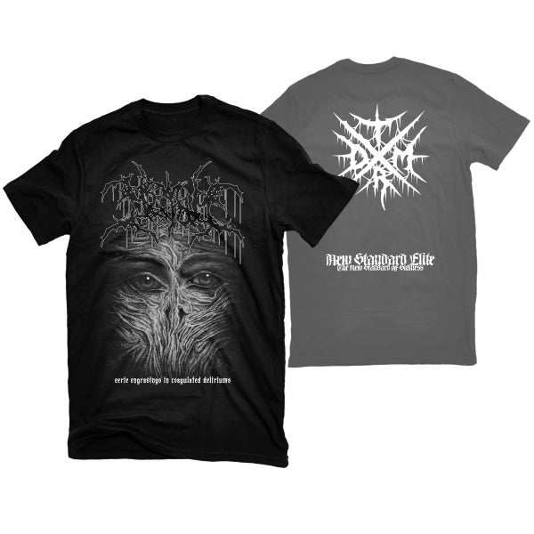 "Image of MESHUM ""EERIE ENGRAVINGS IN COAGULATED DELIRIUMS"" T-SHIRT"