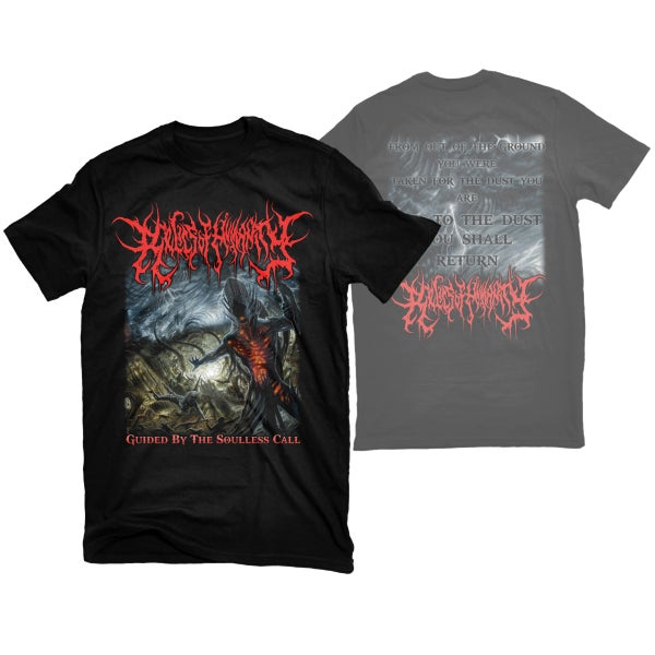 "Image of RELICS OF HUMANITY ""GUIDED BY THE SOULLESS CALL"" T-SHIRT"