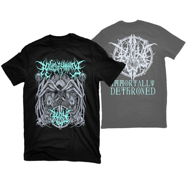 "Image of RELICS OF HUMANITY ""IMMORTALLY DETHRONED"" T-SHIRT"