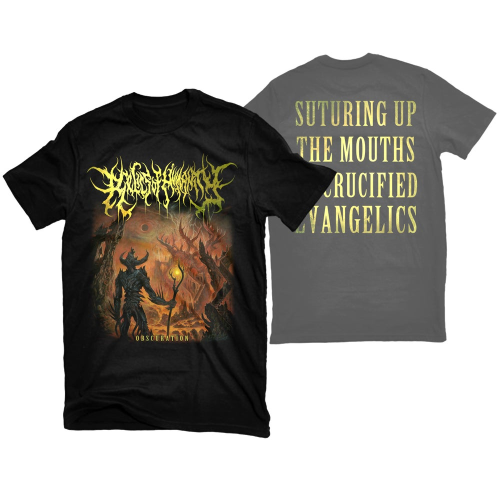 """Image of RELICS OF HUMANITY """"OBSCURATION"""" T-SHIRT"""