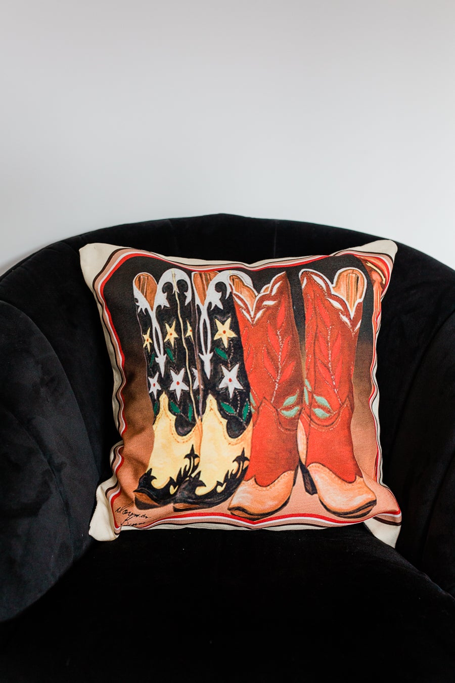 Image of Cowgirl Boots Cushion Cover
