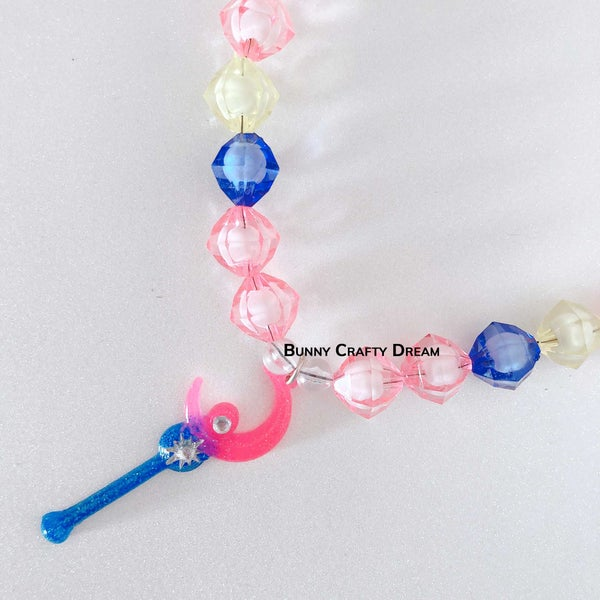 Image of Crescent Moon Wand Necklace