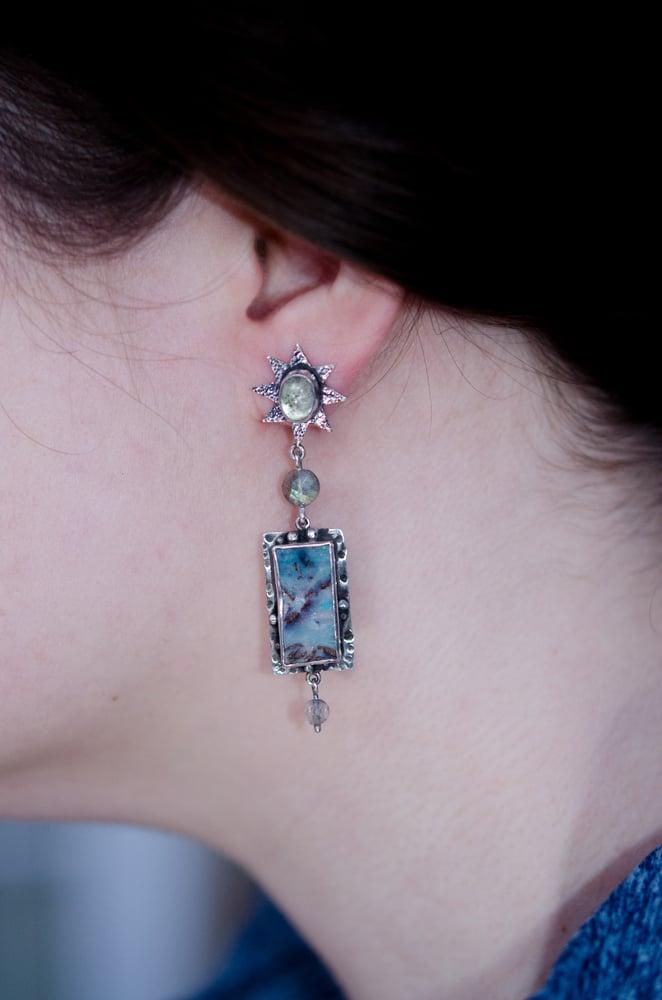 Image of australian boulder opal earrings