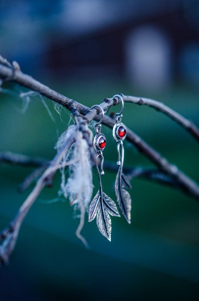 Image of made to order: sassafras leaf earrings