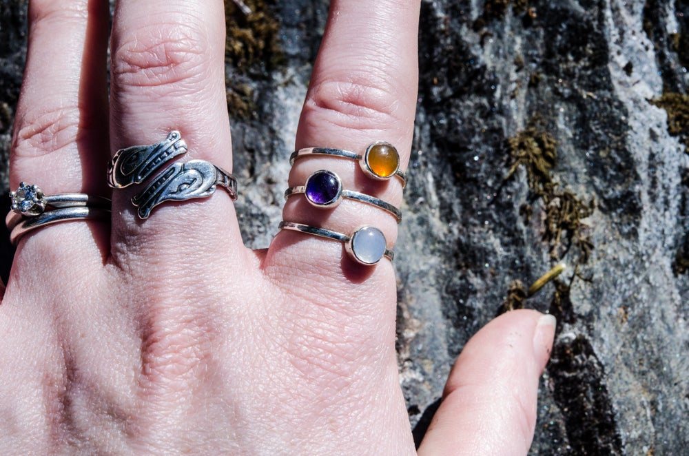 Image of stackable birthstone rings