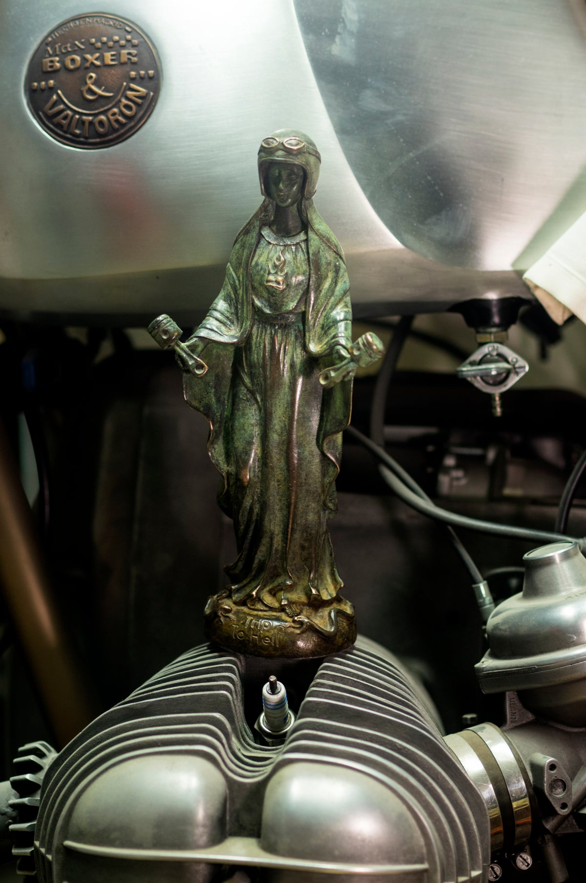 Image of Virgen de los Pistones bronze limited edition