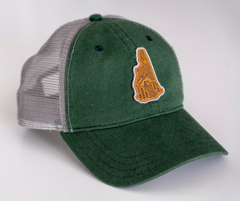Image of Camping Logo Green/Grey Trucker