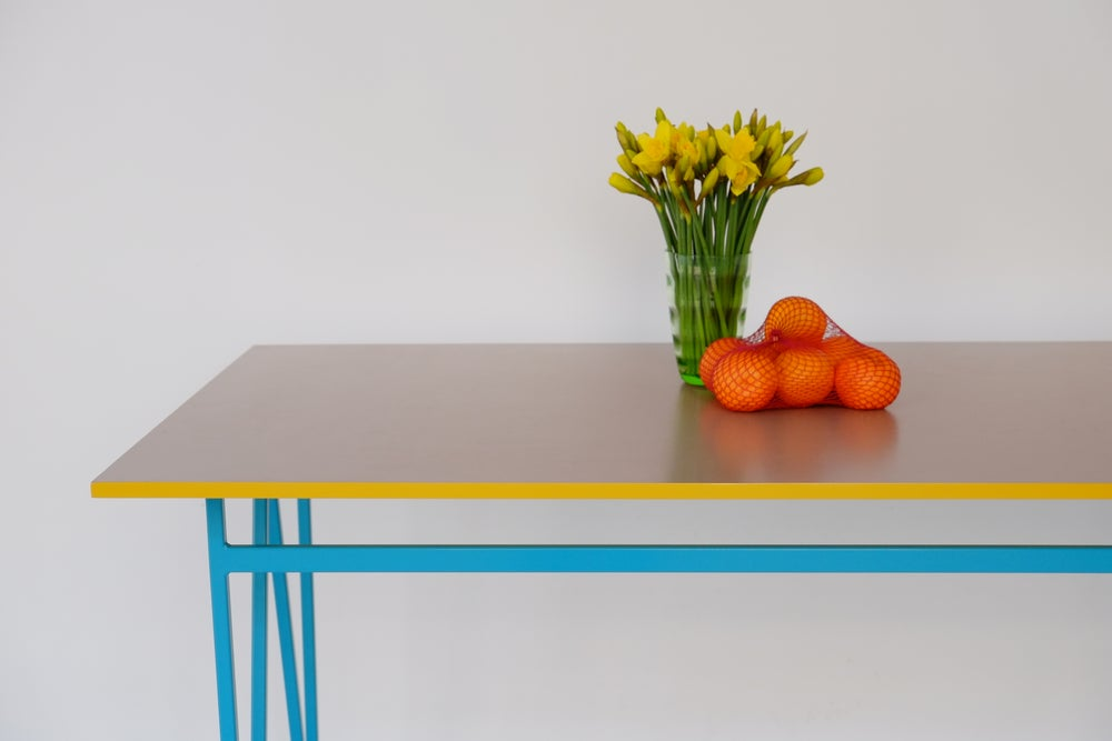 Image of Colour Play Dining Table in Mushroom