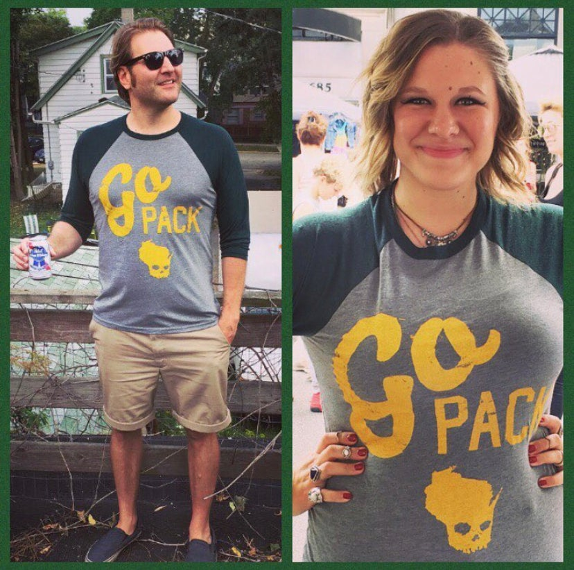 Go Green and Gold 3/4 Sleeve Unisex