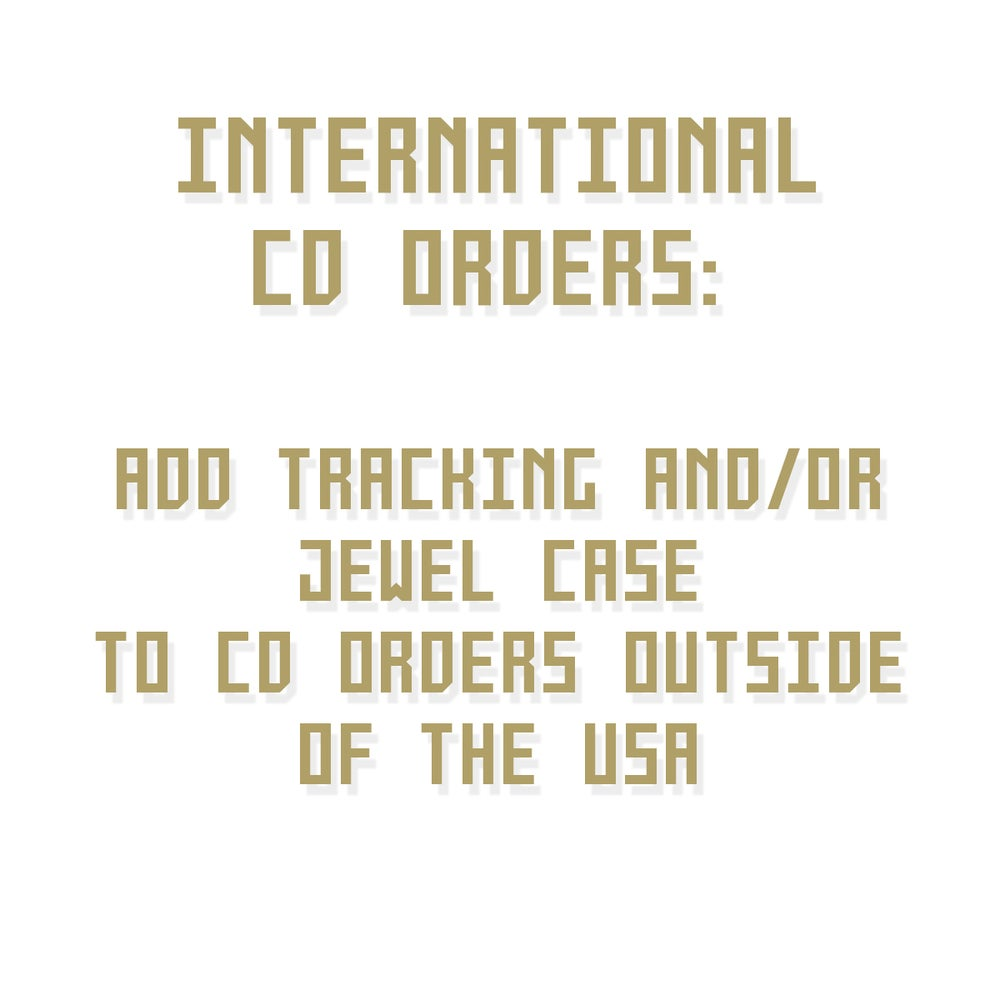 Image of CD TRACKING / JEWELCASE (Orders outside USA only)