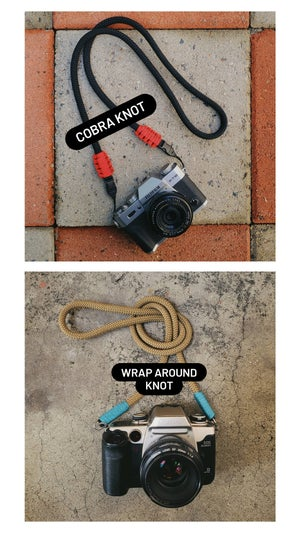 Image of Olive drab rope shoulder strap w/ split ring attachments