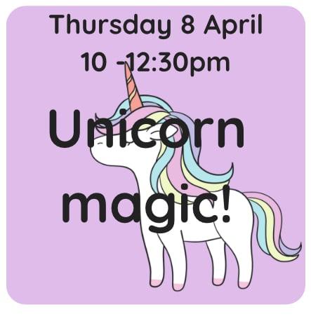 Image of Unicorn magic 8 April 1pm - 3:30pm