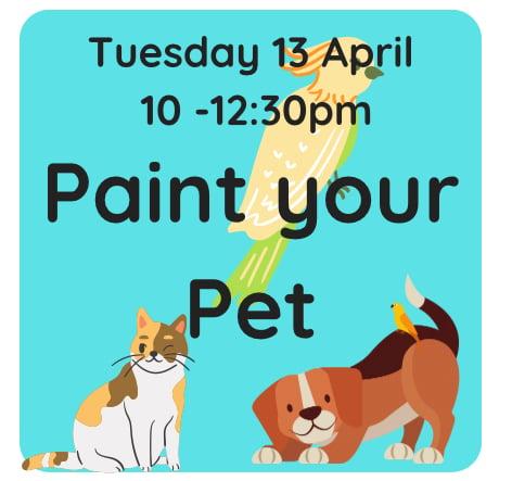 Image of Paint your pet 13 April 10am -12:30