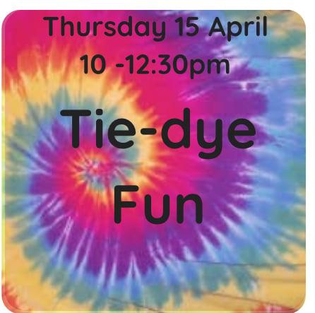 Image of Tie dye fun! 15 April 1pm - 3:30pm