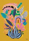 Hullabaloo - Art Print - Yellow