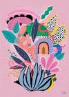 Hullabaloo - Art Print - Dusty Pink