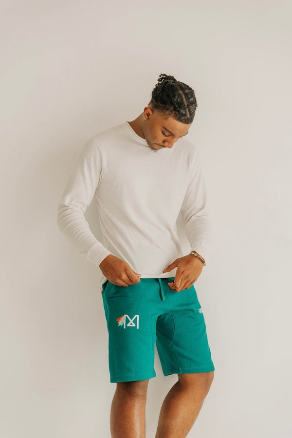 Image of Noble Monarch Sweat shorts (Teal)