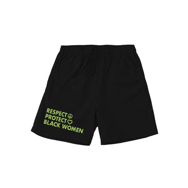 Image of Respect Protect Black Women 6.5oz cotton shorts