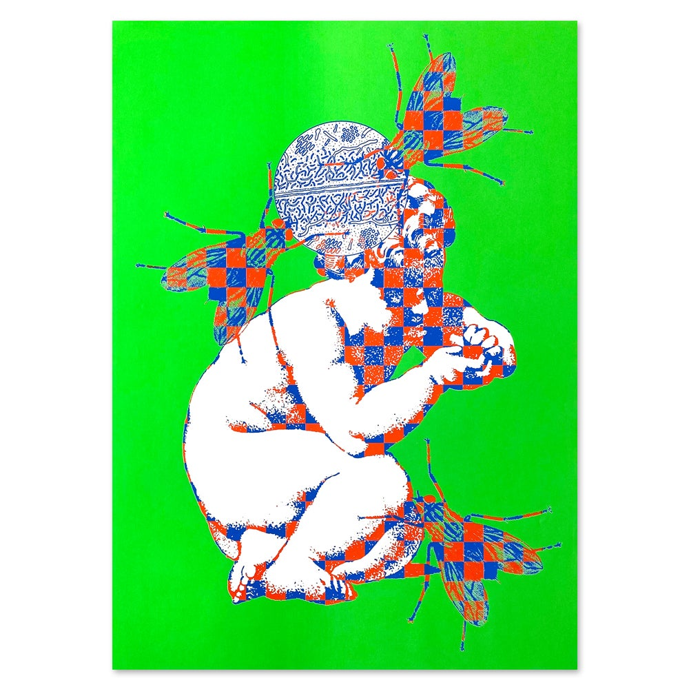 """Image of """"Contagion"""" Screen Print by Ed Davis"""