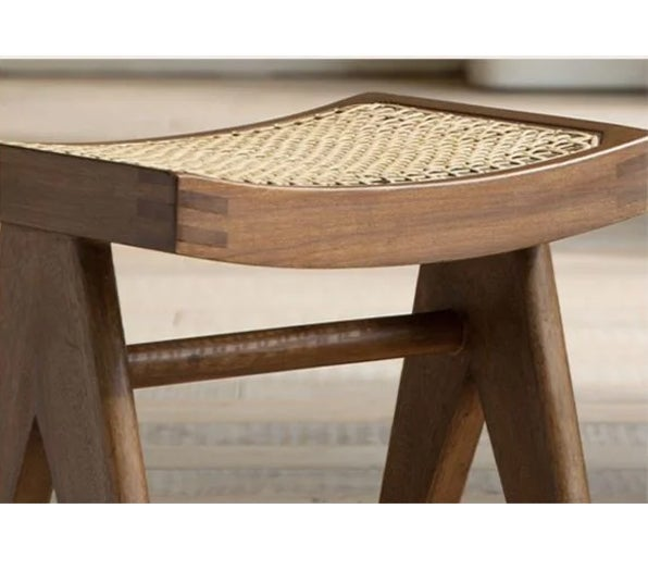 Image of Pierre Jeanneret reproduction Chandigarh Cane Stool