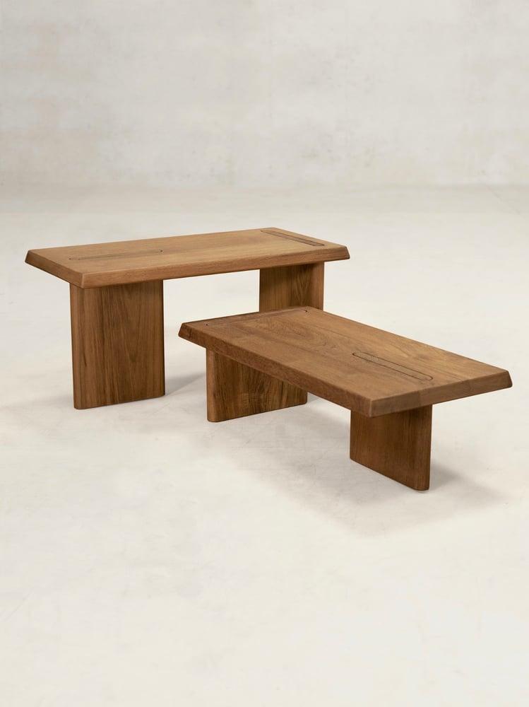 Image of teak side tables x+l 08
