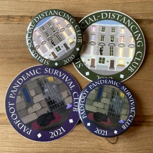 Image of Padfoot Pandemic Survival Club 2021 Button