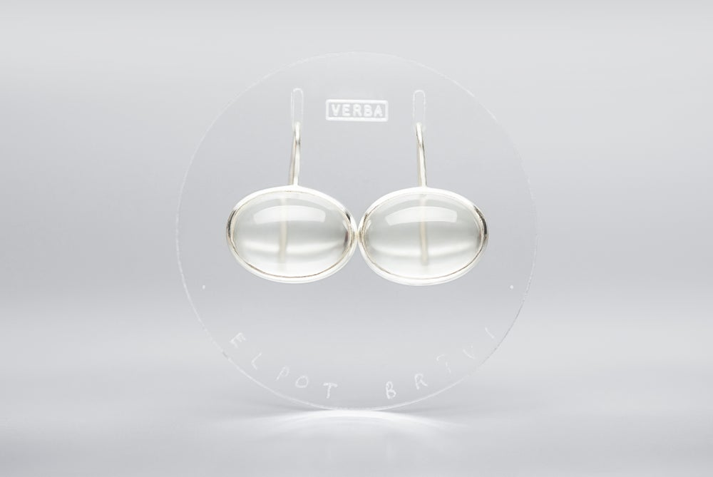 """Image of """"To breathe freely"""" silver earrings with rock crystals   · SPIRARE LIBERE ·"""