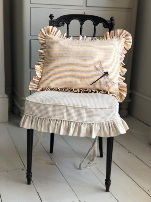 Image of Embroidered Drangonfly Cushion