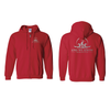 Zip Up Hoodie w/ Silver Logo Front/Back