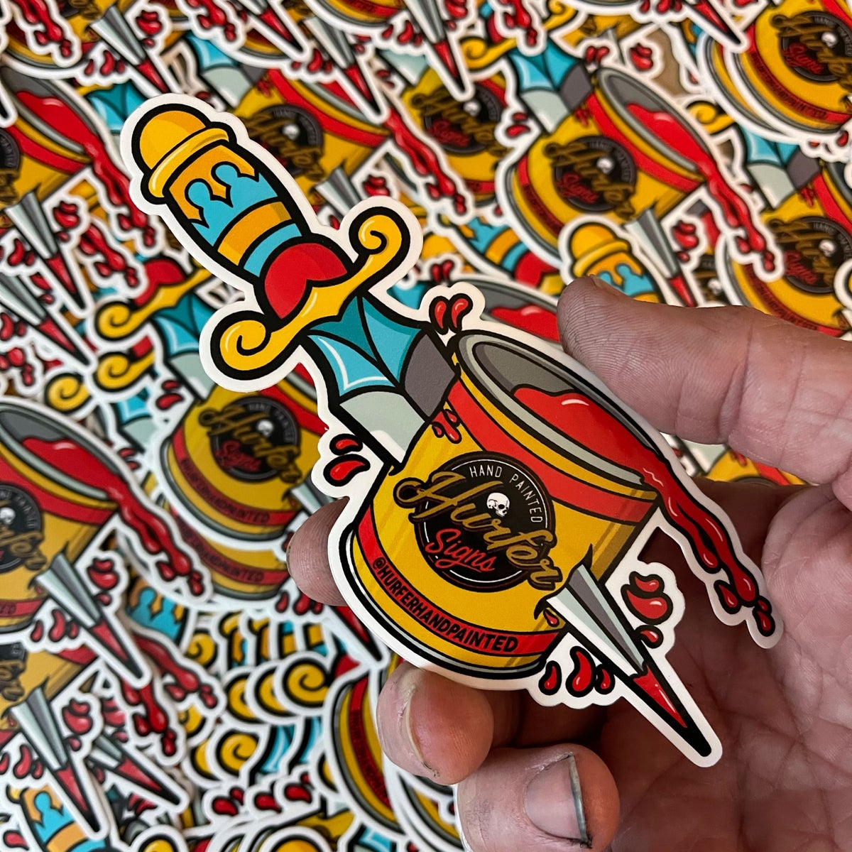 Image of Dagger Can Sticker