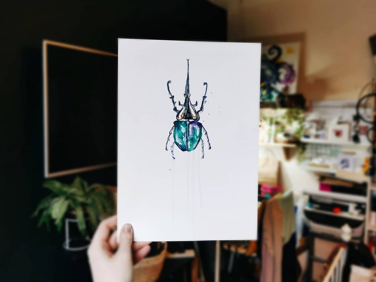 Beetle Original Painting