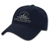 Navy Blue Hat w/ Silver Logo