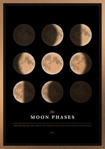 Image of Moon Phases Gold Edition | Artprint
